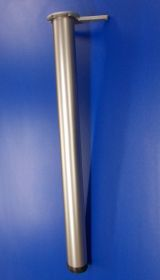 Stolová noha nikl mat 710 mm