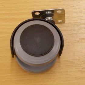 Kolečko PU pásek50 mm, s plotničkou a brzdou