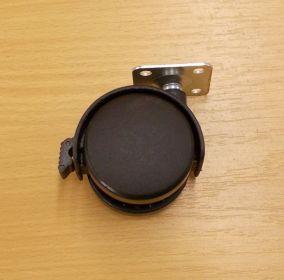 Zobrazit detail - Kolečko pevné 50 mm, s plotničkou a brzdou