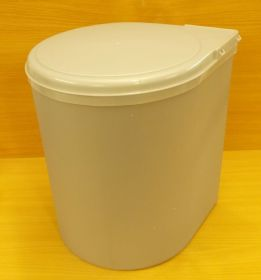 Zobrazit detail - Koš plastový kulatý 13 litrů , šedý