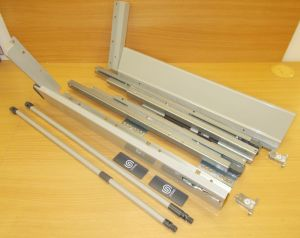 Plnovýsuv s tl. STRONG BOX 204/500 mm - sada šedá