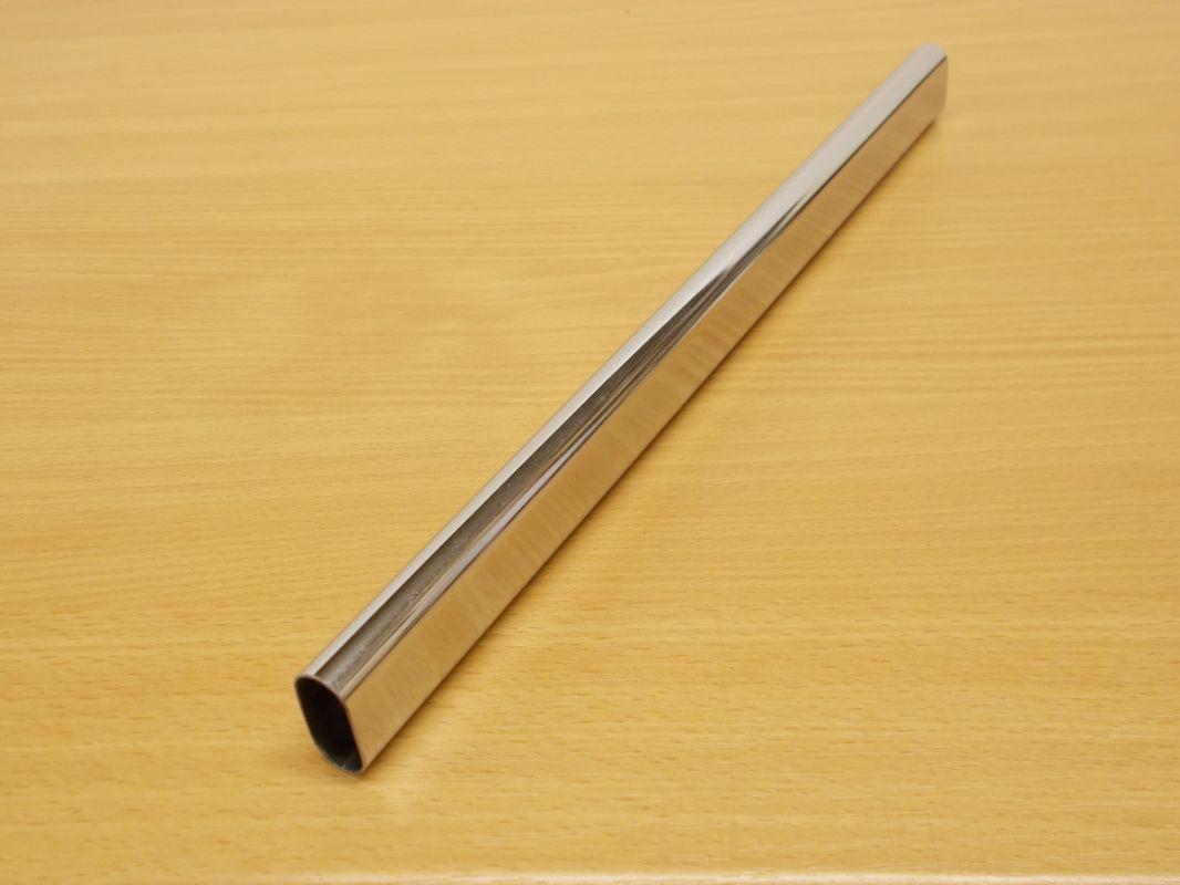 Krácená šatní tyč chrom ovál 556 mm pro skříň š.600 mm