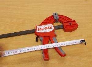 Jednoruční svěrka Bar-Man, 100 cm