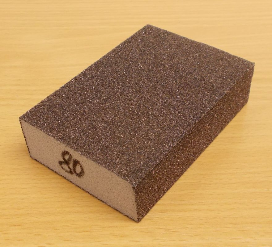 Brusná houba čtyřstranná,molitan, zrnitost 80, rozměr 60,68x98x27mm