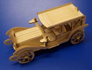 Dřevěné 3D puzzle - historická limuzína
