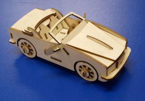 Dřevěné 3D puzzle - auto