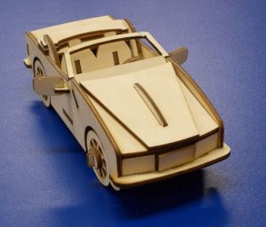 Dřevěné 3D puzzle - sportovní auto