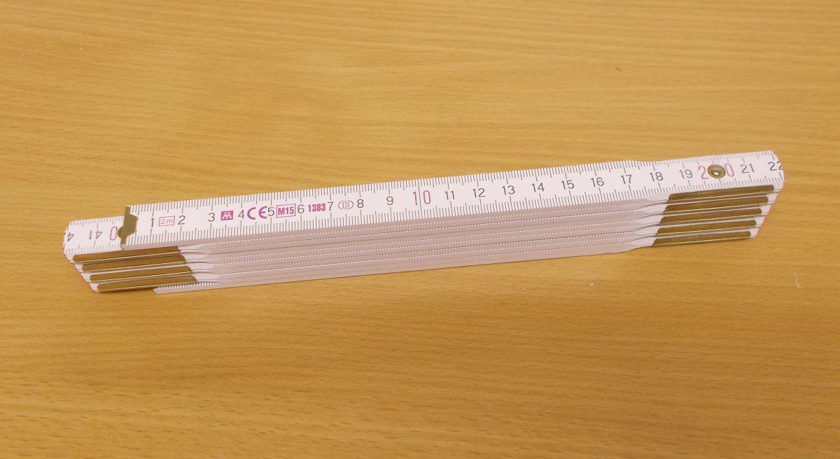 Metr dřevěný PF10 duplex , certifikace přesnosti EG III