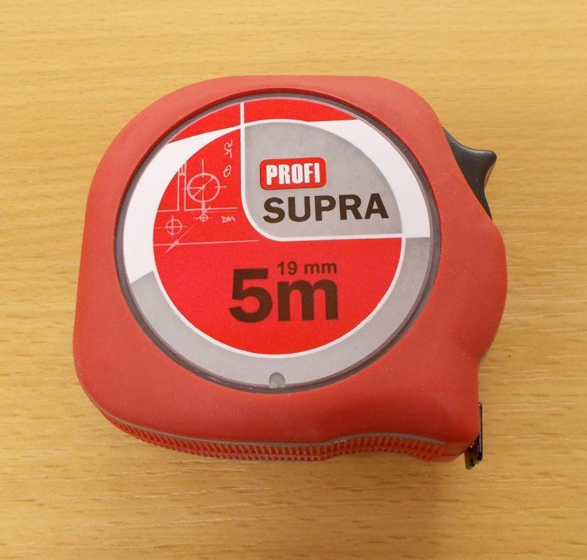 Metr Supra profi délka 5m,šířka pásky 19mm,certifikace přesosti EEC II