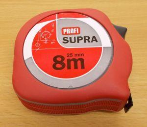 Metr Supra profi délka 8m,šířka pásky 25mm,certifikace přesosti EEC II
