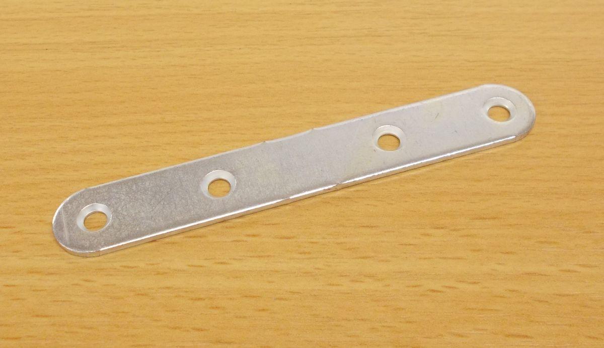 Spojovací plech PS2 15x100 mm , tloušťka 2mm,zinek bílý bal.=100ks.