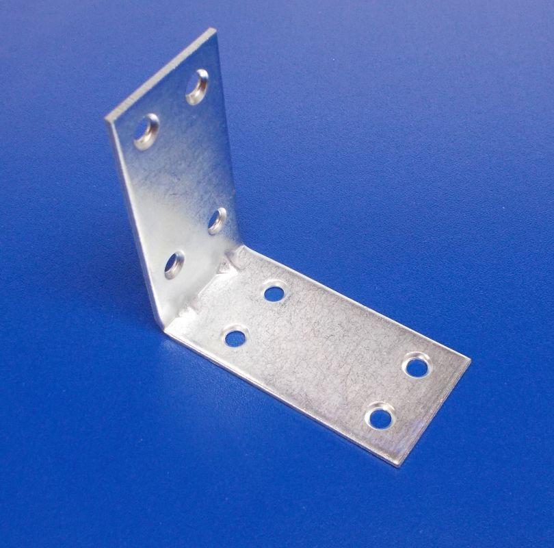 Úhelník s prolisem 30x60x60 mm, zinek bílý,tl.2mm, bal.=50ks