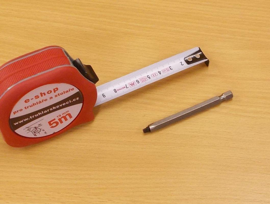 Bit Uniquadrex č.1, délka 75 mm, pro vrut průměr 3,5 mm
