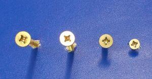Vrut do dřeva se záp.hl. Uniquadrex zinek žlutý , 4x40 mm,bal=1000ks