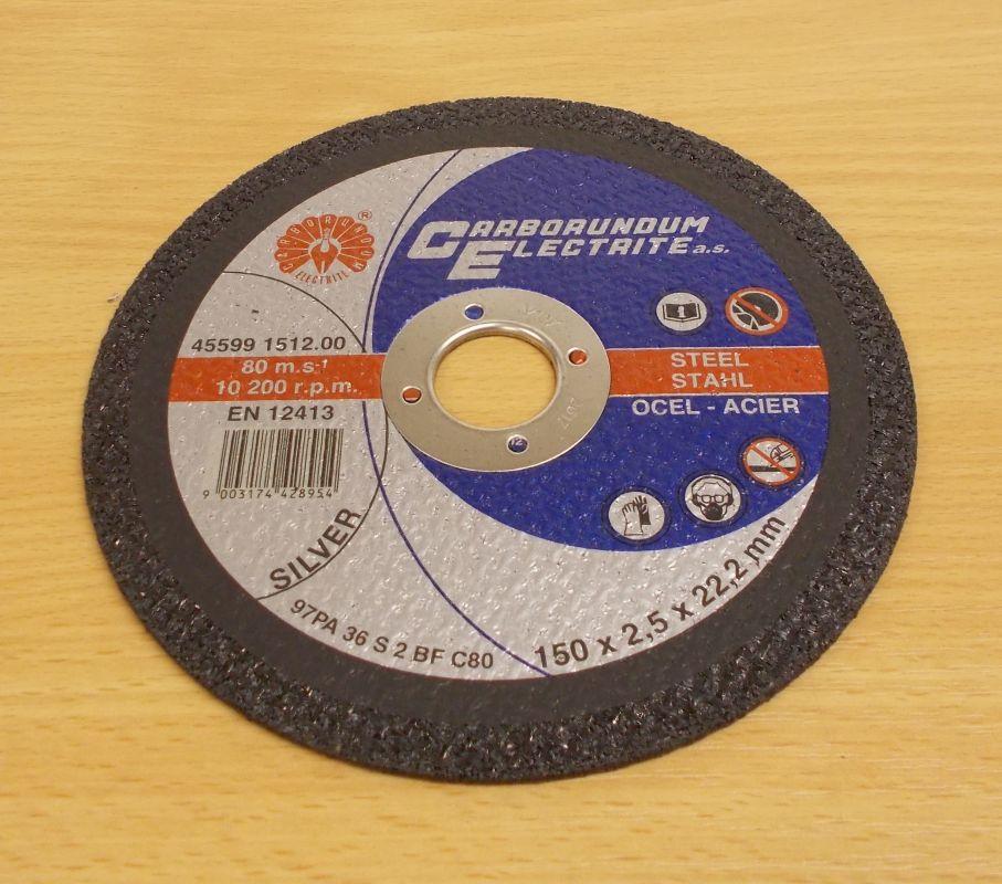 Řezný kotouč 150 x 1,6 x 22,2 mm , ocel