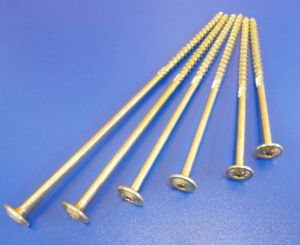 Vrut pro dřevostavby TH T40, 8x200/100 mm, Zinek žlutý, balení=1kus