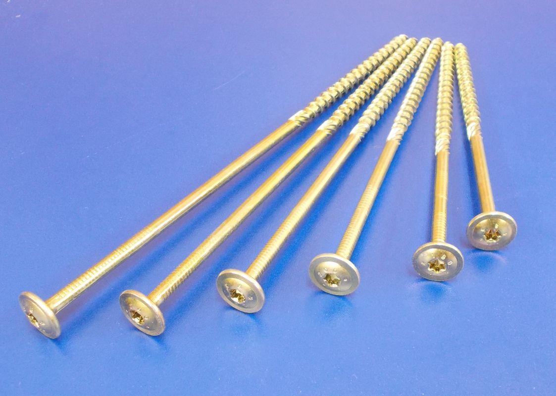 Vrut pro dřevostavby TH T40, 8x240/100 mm, Zinek žlutý, balení=1kus