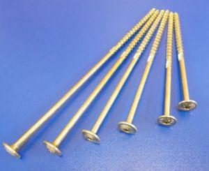 Vrut pro dřevostavby TH T40, 8x260/100 mm, Zinek žlutý, balení=1kus