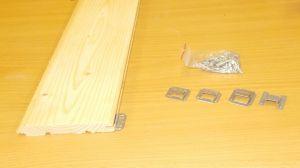Příchytka palubek s hřebem , pro tl. spodní drážky 4,7 mm, bal=100 ks
