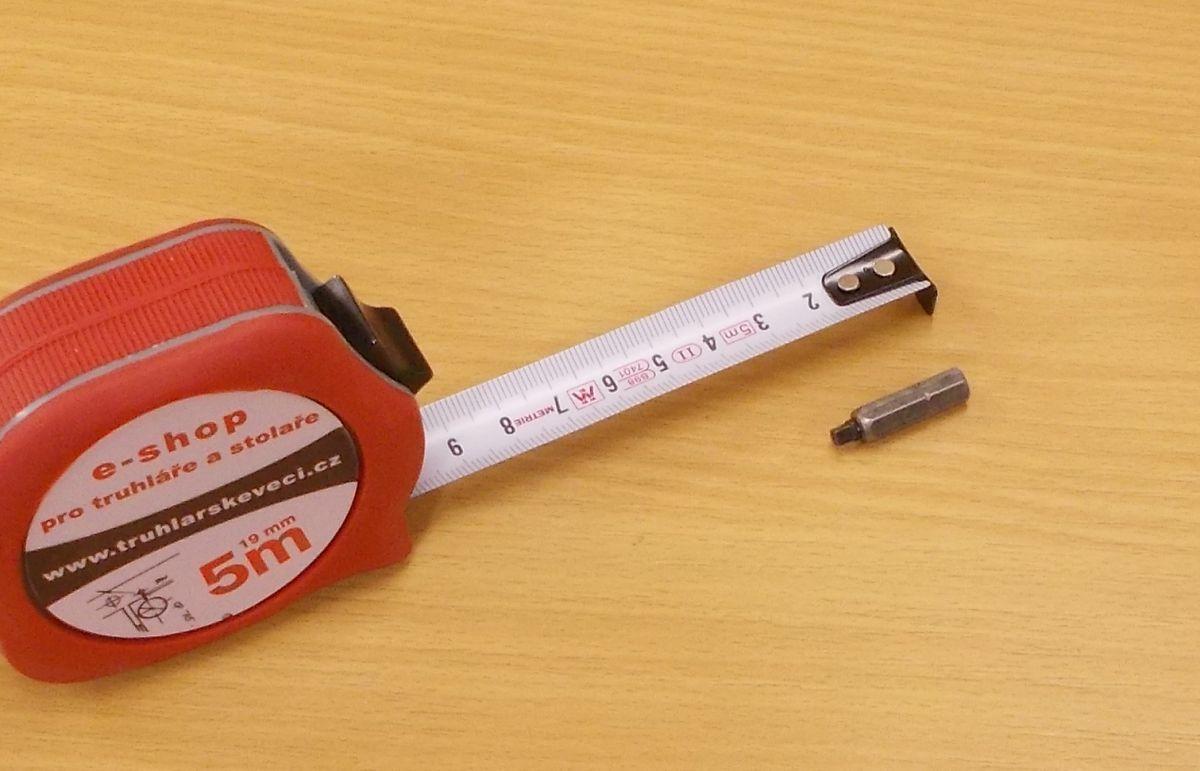 Bit Uniquadrex č. 0, délka 25 mm, pro vrut průměr 2,5 a 3 mm