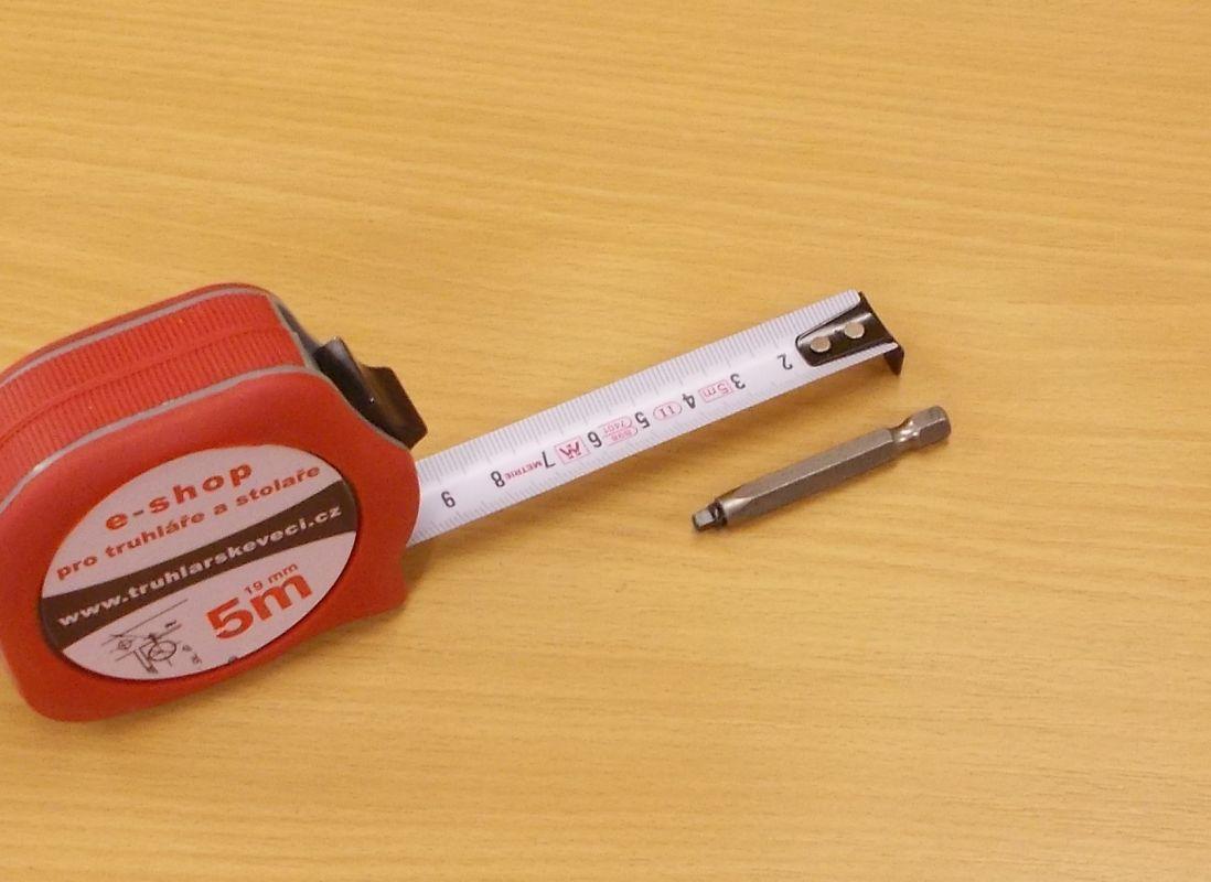Bit Uniquadrex č. 0, délka 50 mm, pro vrut průměr 3 mm
