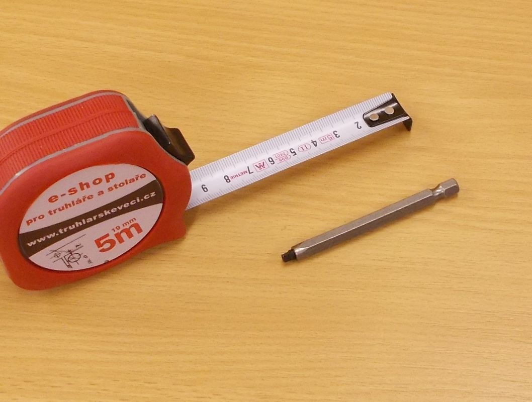 Bit Uniquadrex č.0, délka 75 mm, pro vrut průměr 3 mm