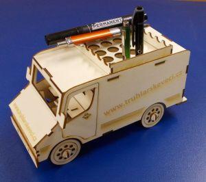 Dřevěné 3D puzzle - dodávka s Webovkami Vaší firmy