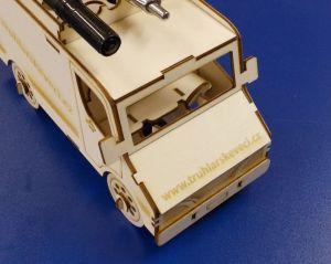 Dřevěné 3D puzzle - dodávka s vypálenými Webovkami Vaší firmy