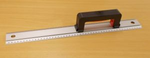 Hliníkové pravítko Alfa s madlem,délka 50 cm, posuvné madlo