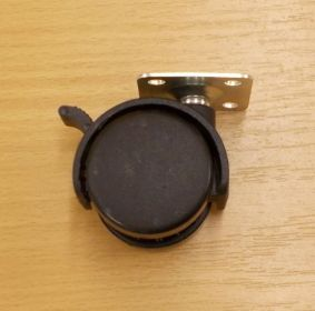 Kolečko pevné 40 mm, s plotničkou a s brzdou