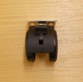 Kolečko nábytkové , pevné 40 mm, s plotničkou 38x38 mm, s brzdou