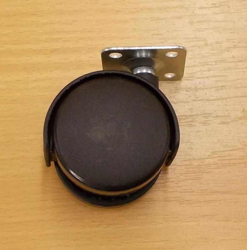 Kolečko nábytkové , pevné 50 mm, s plotničkou 38x38 mm