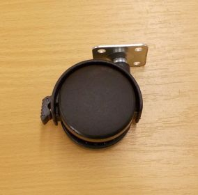 Kolečko pevné 50 mm, s plotničkou a brzdou