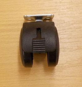Kolečko nábytkové , pevné 50 mm, s plotničkou 38x38 mm, a brzdou