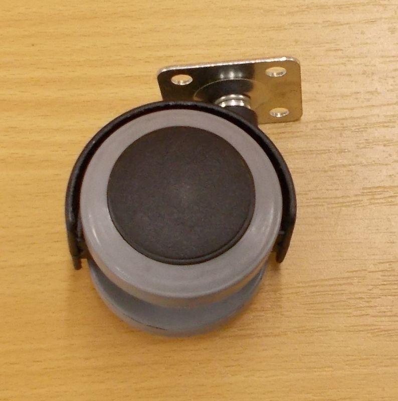 Kolečko nábytkové ,PU pásek 40 mm, s plotničkou 38x38 mm