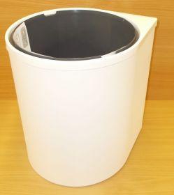 Koš vestavný, plastový, kulatý 13 litrů , bílý