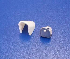 Kovový úhelník s nasouvací krytkou,bílý