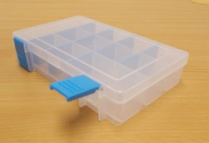 Krabička-organizer , transparentní 168x115x35 mm