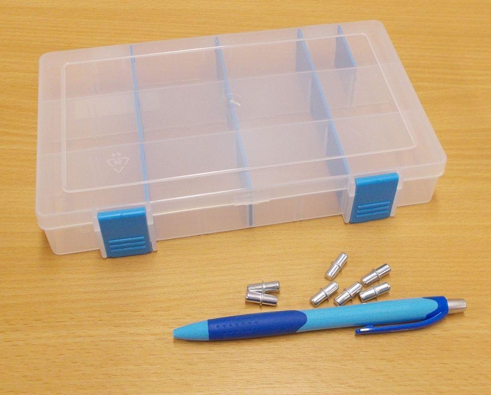 Krabička-organizer , transparentní 206x137x35 mm