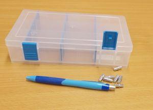 Krabička-organizer , transparentní 206x137x45 mm