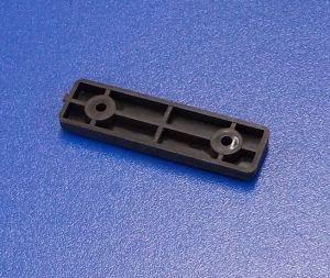 Nábytková soklová podnož 2 děrová , černá , balení=100 ks