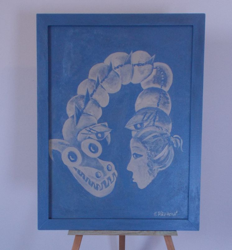 Obraz Dvojí tvář 45x59 cm, akryl