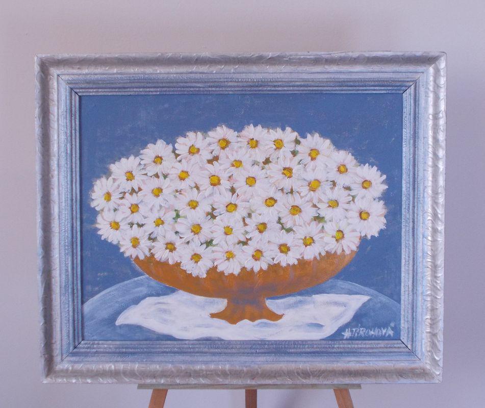 Obraz Kopečková kytice 43x36 cm, akryl