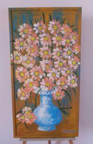 Obraz Kytička modrá váza