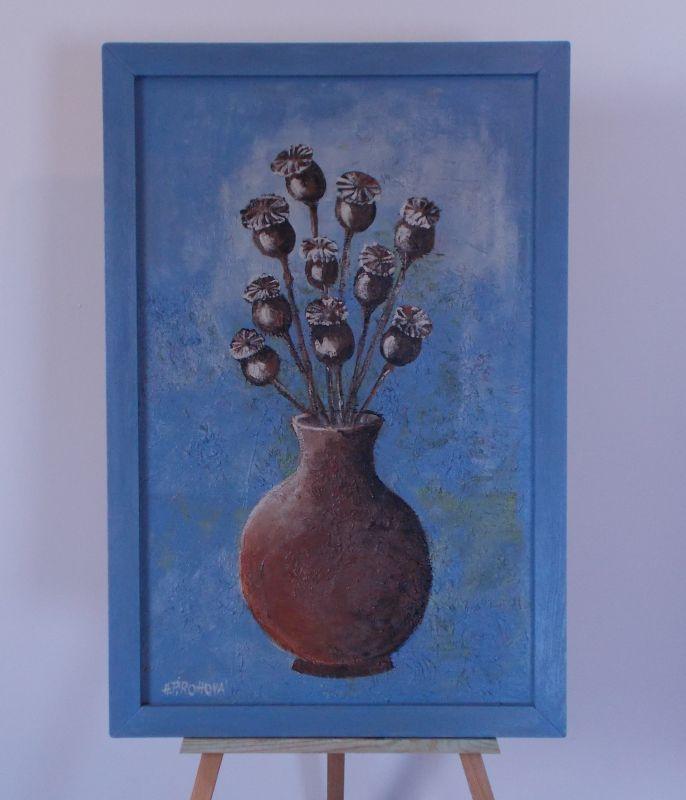 Obraz Makovice 44x66 cm, akryl