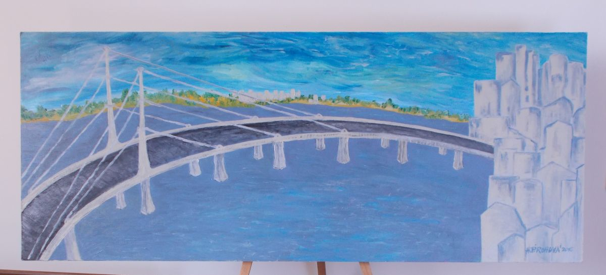 Obraz Most 49x120 cm, akryl