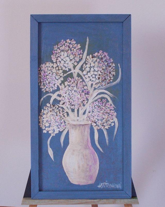Obraz Okrasný česnek 26x48 cm, akryl
