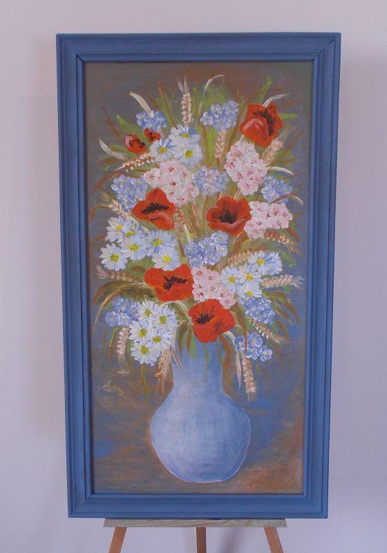 Obraz Polní Kytice 47x78 cm, akryl