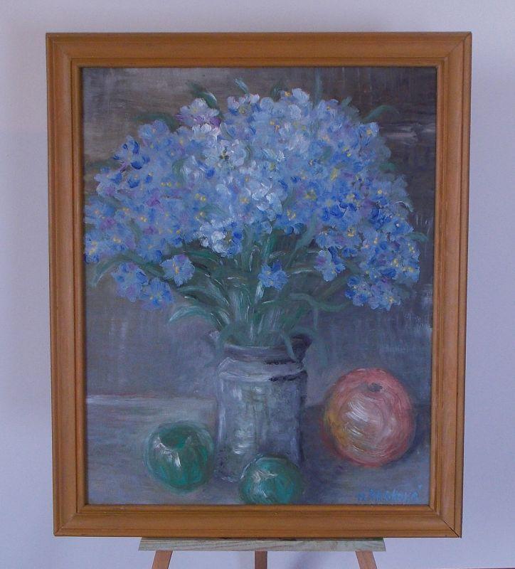 Obraz Poměnky 52x62 cm, olej