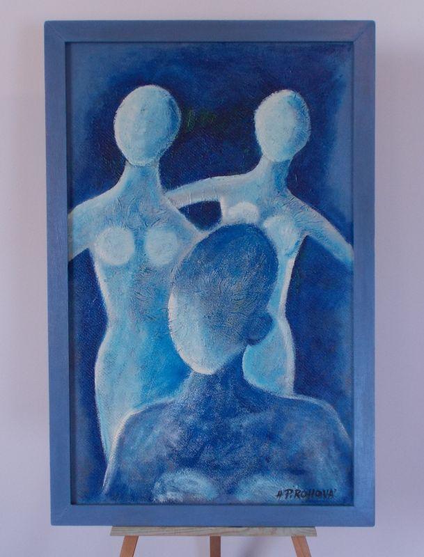Obraz Trojka 49x75 cm, akryl